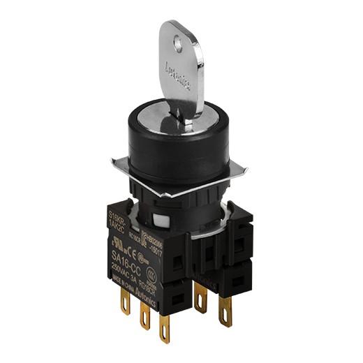 Селекторные переключатели с ключом серии S16KR — оптимальное решение Autonics  для компактных корпусов и панелей
