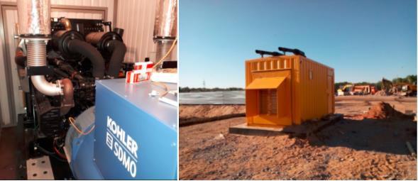 ДГУ KOHLER-SDMO D440 в контейнере установлена на трассе М11