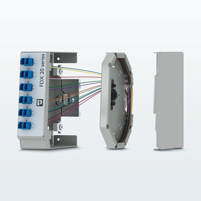Phoenix Contact представляет компактные оптические кроссы на DIN-рейку для одномодового и многомодового волокна