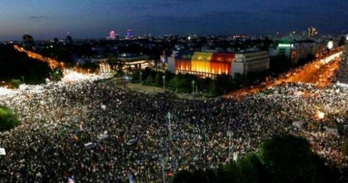 При разгоне антиправительственного митинга в Румынии пострадали более 400 демонстрантов