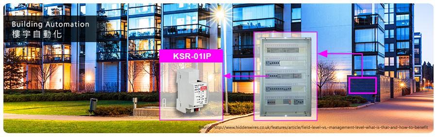 Реечный IP роутер шины KNX серии KSR-01IP от Mean Well