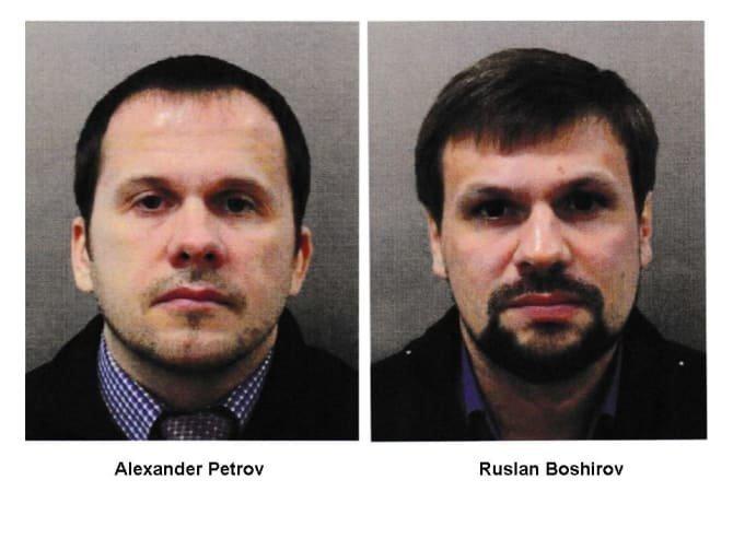 Опубликованы фото россиян, подозреваемых в отравлении Скрипалей