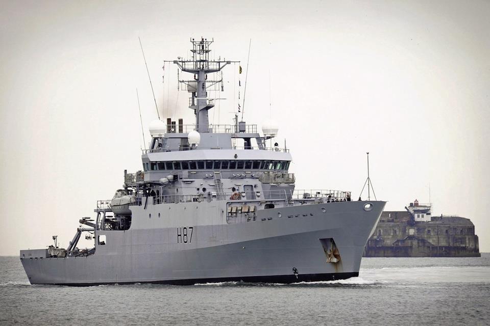 В Черное море вошел корабль-разведчик ВМС Британии