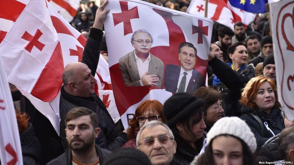 В Тбилиси прошли протесты против результатов президентских выборов