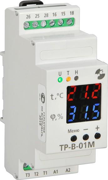 Компания «Реле и Автоматика» представляет новинку — реле температуры и влажности ТР-В-М01