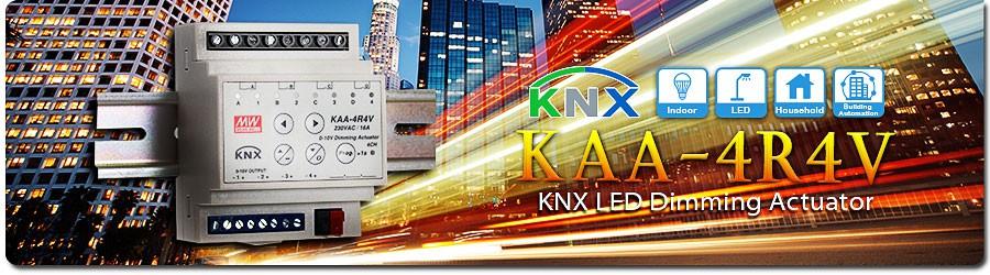 Новинка — реечный светодиодный диммер шины KNX серии KAA-4R4V от MEAN WELL