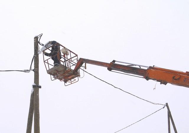 280 светодиодных фонарей установили специалисты «Вологдаэнерго» в Вытегорском районе