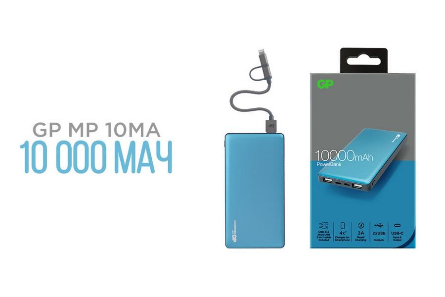 Портативный аккумулятор GP M-серии на 10 000 мАч признан лучшим среди аналогов