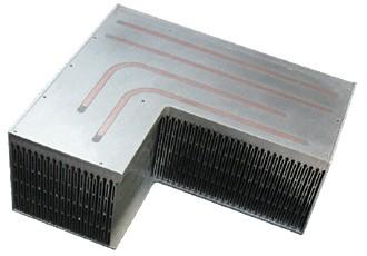 L-образный радиатор с интегрированными трубками Mersen