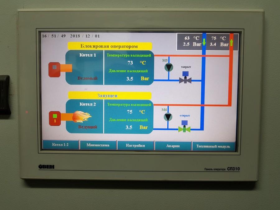Автоматизация котельной для ГОК имени Гриба