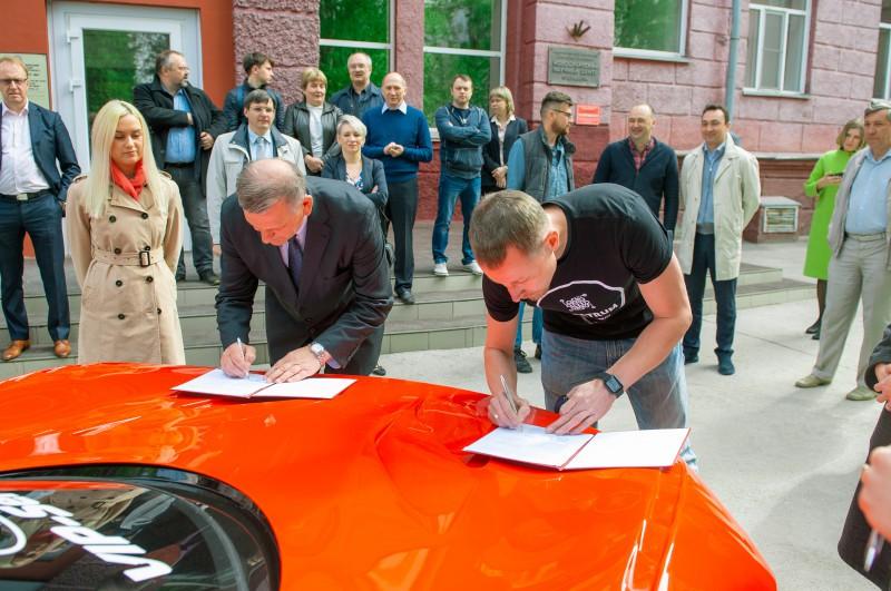 НГТУ НЭТИ и ГК «Спектр» подписали соглашение о разработке энергоустановки для спортивного электромобиля