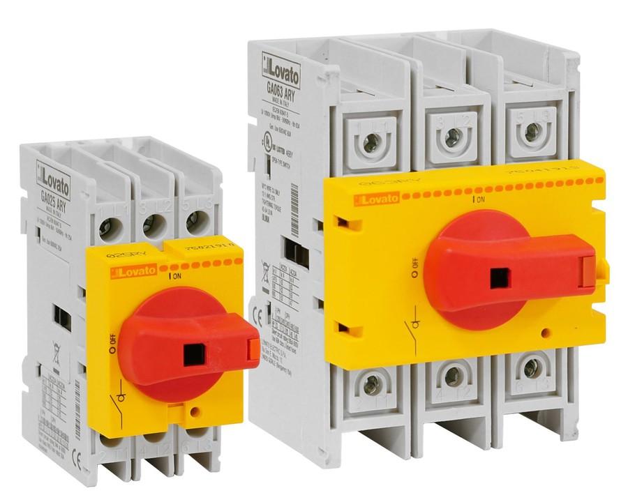LOVATO Electric сообщает о доступности новых выключателей-разъединителей серии GA ... ARY