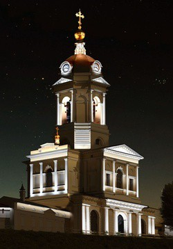 XLight выполнил проект по архитектурно-художественному освещению Высоцкого мужского монастыря