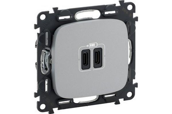 Legrand представляет новые зарядные устройства с разъемом USB Type-C