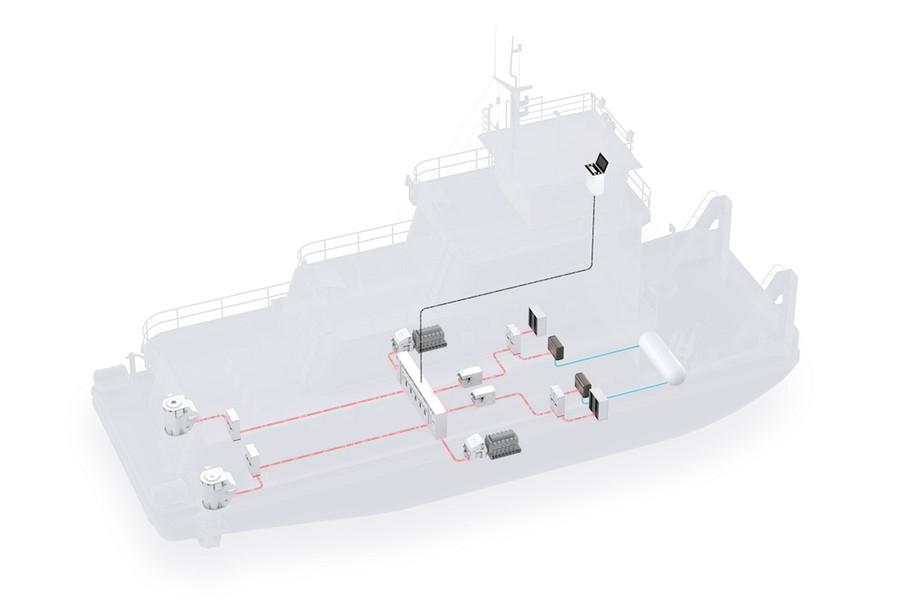 Компания АBB поставит силовую установку и систему движения на водородном топливе для нового речного судна