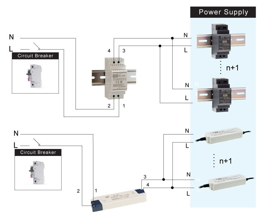 MEAN WELL представляет ограничитель импульсов переменного тока ICL-16 для сетей с уровнем тока о 16 А