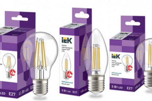 IEK GROUP представляет новинку — светодиодные филаментные лампы серии 360° IEK®