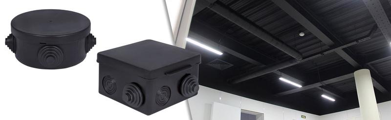 EKF выпустил монтажные коробки IP54 в черном цвете