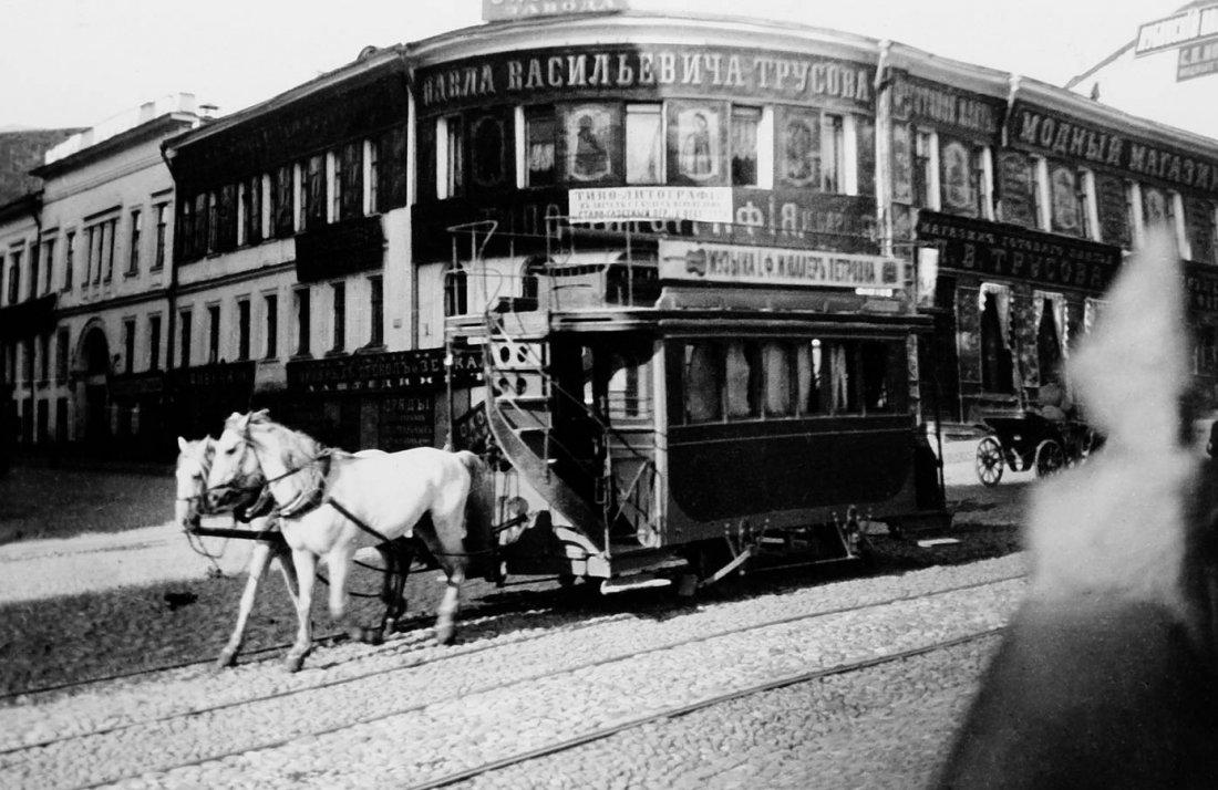 Конный трамвай