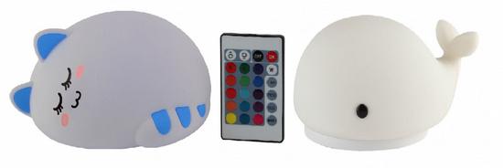 Мягкие силиконовые светильники-ночники с покрытием soft-touch от компании «ЭРА»